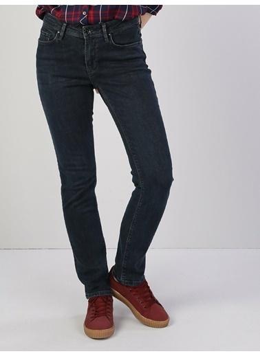 Colin's 703 Carla Orta Bel Düz Paça Slim Fit Mavi Kadın Jean Pantolon Mavi